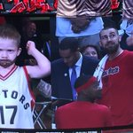 Shout out to Mini JV who came to support Raptors last night :)) have a great weekend kid! https://t.co/WdgcZiKoTe
