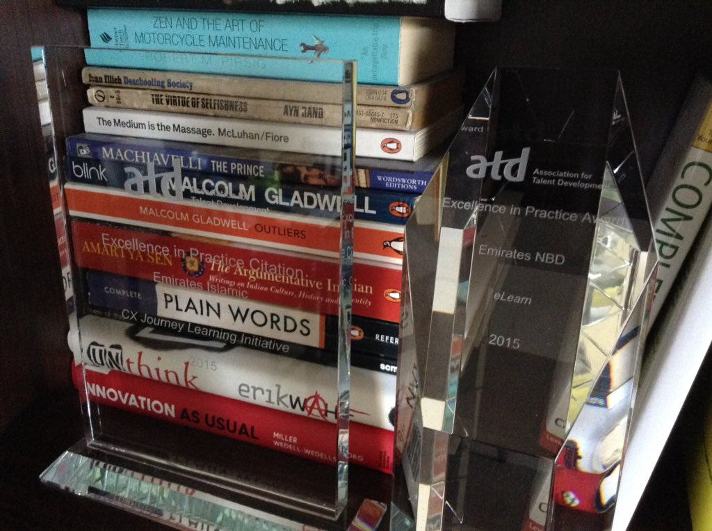 #ATD #ATD2016 awards on display in my library. https://t.co/SKKCATlI6P