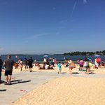 Ramsey Beach is filling up...and its not even 11am!!! @wsoctv https://t.co/AAVVFZ7UBH