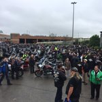 Nothing says #fcancer like the roar of 1,400 motorcycles. ???????? @RideForDadMB #RideForDad https://t.co/HokAD3ypaP