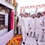 At Kaushambi, pension & laptop distribution.Inauguration of 4 lane highway. Stone laying ceremonies of new projects. https://t.co/MZ7C78KkDU