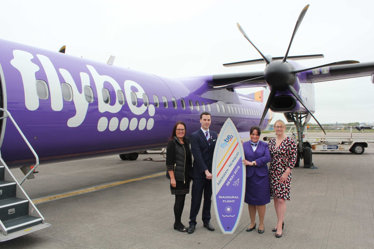 We're excited to see the launch of Flybe's new Aberdeen - Newquay route today! More details: