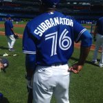 """The """"Subbanator"""" aka @CanadiensMTL @PKSubban1 showed up to take BP. Watch footage on #BlueJays Central 1230p https://t.co/BbfDpVLLIz"""