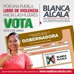 Mi voto es por @SoyBlancaAlcala, porque ella puede por nosotras #BlancaMiGobernadora la que apoya a las mujeres https://t.co/0MxtJu9QbK