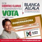 Con @SoyBlancaAlcala cuentas claras y transparentes #BlancaMiGobernadora https://t.co/dSrHQwQEJp