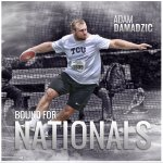 Its official! Adam Damadzic is headed to Eugene for the NCAA Outdoor Championships! #GoFrogs https://t.co/bjiVOvf706