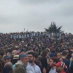 Its @BernieSanders & @janeosanders 28th wedding anniversary today so look what the crowd did in Santa Barbara https://t.co/wO2yIMjHea