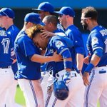 #OurMoment Toronto @BlueJays Devon Travis is seen after hitting the winning run against t… https://t.co/nYLkIwcWhF https://t.co/mCNj9gk38X