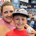 9-year-old Adam is visiting from Nebraska for his first @MLB game. He caught @PandaCrusher35s home run! #RaysUp https://t.co/1lh4iBypwW