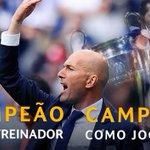 O primeiro técnico francês campeão da Liga dos Campeões! Tem que respeitar muito o professor Zidane! https://t.co/o0X6OXNOC5