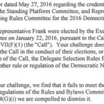 """NEW: DNC """"compelled to dismiss"""" Sanders campaigns complaint over committee leaders https://t.co/3NKXlbV6Gl https://t.co/nY9cbh74DA"""