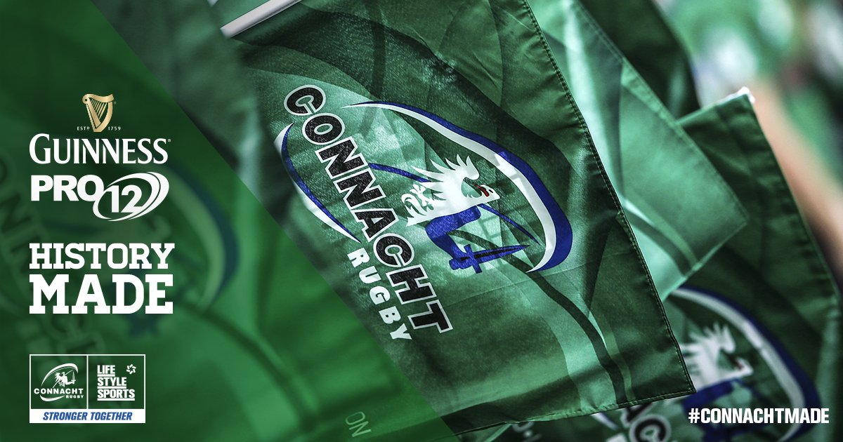 What a day for @connachtrugby. The West is truly awake. #Pro12Final #conlein https://t.co/xDZtSYH8DG