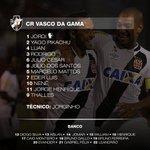 Escalação oficial do Vasco para a partida contra o Bahia. #VASxBAH https://t.co/J10VAL02lq