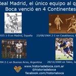 Real Madrid es el único club al que Boca venció en 4 continentes (Europa, África, América y Asia) https://t.co/3t0nKLV5sf