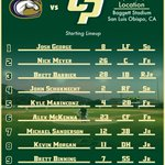 Heres the #Stangs senior day lineup... First pitch in about an hour... #GoPoly https://t.co/5c4AxiyOgY
