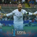 Ramos wheels off in celebration after opening the scoring for Real Madrid #tv3sports https://t.co/03u1SoQdI4