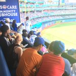 A big thank you to @JaysCare & #MLBPlayBall for awesome gear ????????⚾️ #OurMoment @BlueJays https://t.co/jyUZ5NTaRm
