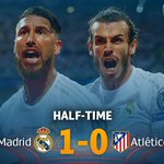 HALF-TIME! Sergio Ramos 15th-minute goal has put the 10-time champions in charge at the break. #UCLfinal https://t.co/12bgyrzkvo