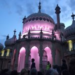 Great sense of excitement & anticipation as #DrBlighty performance about to start #Brighton #Pavilion #brightfest https://t.co/wue0E2zQ3a