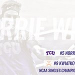 FINAL FOUR! Norrie punches his ticket to the #NCAATennis semifinals with a 4-6, 6-2, 6-1 win! #GoFrogs https://t.co/HBH05jpAnL