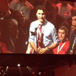 """""""Hello, Im Justin from Papineau"""". @JustinTrudeau #wpg2016 #1Party https://t.co/goHCUSIeLf"""