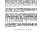 Comunicado oficial de UNASUR desmiente a Delcy. Revela q hubo reuniones ALTERNATIVAS, no reunión gobierno-oposición! https://t.co/7CUva3uHMj