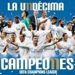 FP: Real Madrid 1-1 Atlético de Madrid (5-3).   ¡SOMOS CAMPEONES DE EUROPA! 🏆  #LAUNDECIMA #HalaMadrid https://t.co/wKoc3xptvb