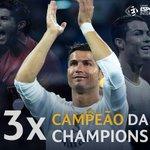1, 2, 3 VEZES Cristiano Ronaldo! O português conquista a sua 3ª UEFA Champions League na carreira! https://t.co/RsdlQYzOaP