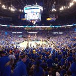 Lots of excitement in here!!! Lets do this Thunder!!!! 15 minutes to go!!! #ThunderUp!!!! https://t.co/7cn2ebVhvh
