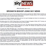 Bronwyn Bishop appointed @SkyNewsAust Political Contributor #ausvotes https://t.co/jTh0mn6ZoV