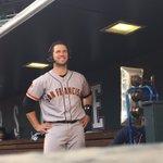 2 Home Runs ➕ 6 RBI = 1 All-American smile 😄 #SFGiants https://t.co/VkG3uYJxWj