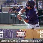 .@TCU_Baseball takes down @Texas_Baseball, 8-2, advancing to the #Big12BSB Championship Game! 🏆⚾️ https://t.co/gmWSQnLgj3
