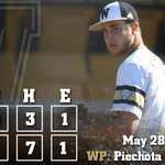 BRONCOS WIN!!! 4-0 is a final to send WMU to its 1st MAC Championship game. Piechota/Bartels combined for a 3-hitter https://t.co/vWryvCDIby