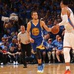 Thunder lead Warriors at end of 1st quarter, 23-20. Curry: scoreless in 1st quarter for 1st time this postseason. https://t.co/RNMGkhj0ss