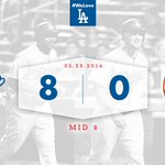 8⃣ is great! #Dodgers head to the bottom of the eighth leading the Mets, 8-0! https://t.co/6GyYztxLjK