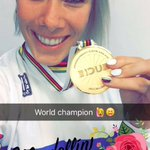 I dont think il sleep tonight :) World Champion tonight in the time trial @UCI_cycling 🏆 https://t.co/FTyaHHF3ls