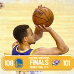 GAME 7 BOUND. Warriors overcome the Thunder in Oklahoma, 108-101. https://t.co/59WkXg4itn