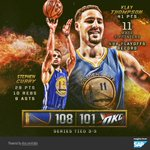 #SAPStatLineOfTheNight Klay (41 pts) sets NBA playoff record with 11 3s, Curry chips in 29P, 10R & 9A in GSW win. https://t.co/YLuIelwpMn