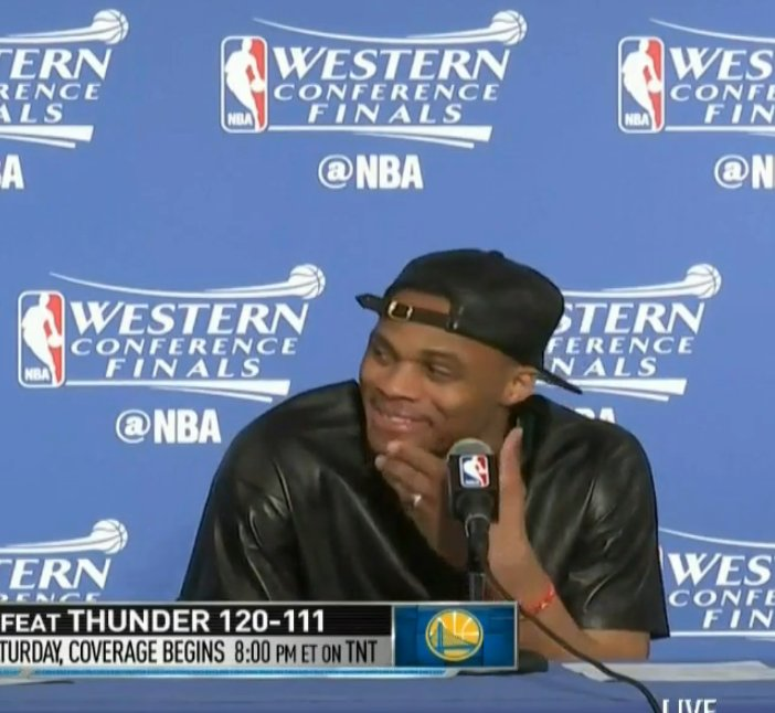 Russell Westbrook after Game 5 vs. Russell Westbrook after Game 6... https://t.co/mpR95IeHrD
