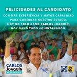 Sin duda #CarlosJoaquinGobernador tiene las mejores propuestas y ganó el #Debate #QuintanaRoo https://t.co/ZvAJNh02Zi