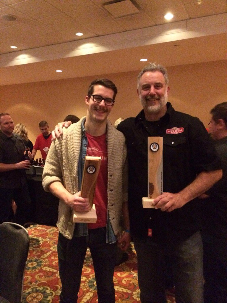 Congrats HSB  brew crew! Baldwin & Cooper gold/woolly bugger silver thank you! #cdnbrewawards #bccraftbeer https://t.co/Ip7XlQQq1y