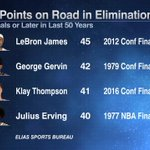 Klay Thompsons 41-point performance in Game 6 puts him in an elite group. https://t.co/EiKdiGTWkI