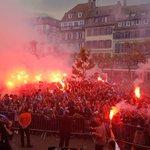 La fête continue : les footballeurs du @RCSA_Officiel reçus en héros à #Strasbourg ce samedi https://t.co/lVJyRaspSZ https://t.co/Fq8Nwf3vj3