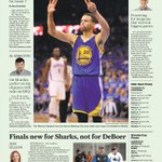 Heres tomorrows @sfchronicle Sporting Green cover. #SeeYouMonday #Warriors https://t.co/AFckrAjH8G