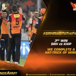 This win propelled our winning momentum in the tournament. Share your best moments! #OrangeArmy #SRHRoadtotheFinal https://t.co/1UEbXLcUOw