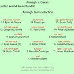 Armagh Team Selection Electric Ireland #ulster16 MFC https://t.co/zBbKhTueuT