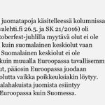 """""""Lisäksi humalahakuista juomista esiintyy muuallakin Euroopassa kuin Suomessa"""" #alkoholi https://t.co/4IAz1JYu2I"""