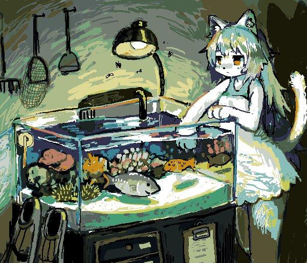 彼女は「天ぷら」「刺身」と名付けた魚を飼っています https://t.co/xc1FqK6LFb