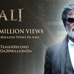 #Kabali Facebook Cover - #KabaliTeaser 20M Views Special - A new record in Asia! Todays Tag: #KabaliNo1IndianTeaser https://t.co/Q4sV96N2Vt