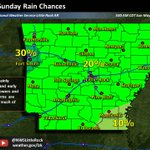 Isolated, mainly afternoon and evening showers and thunderstorms are possible across the state today. #arwx https://t.co/E9vzRapoxb